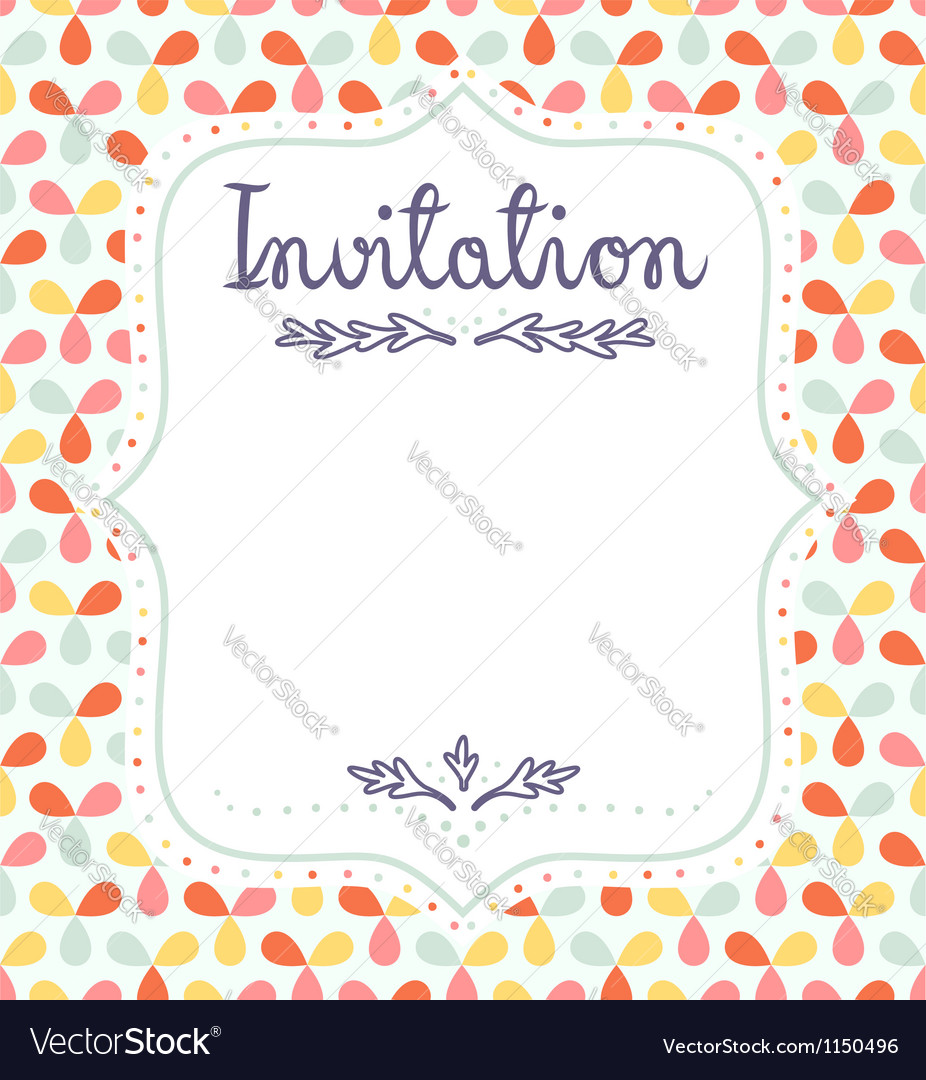 Invitation template vector | Price: 1 Credit (USD $1)