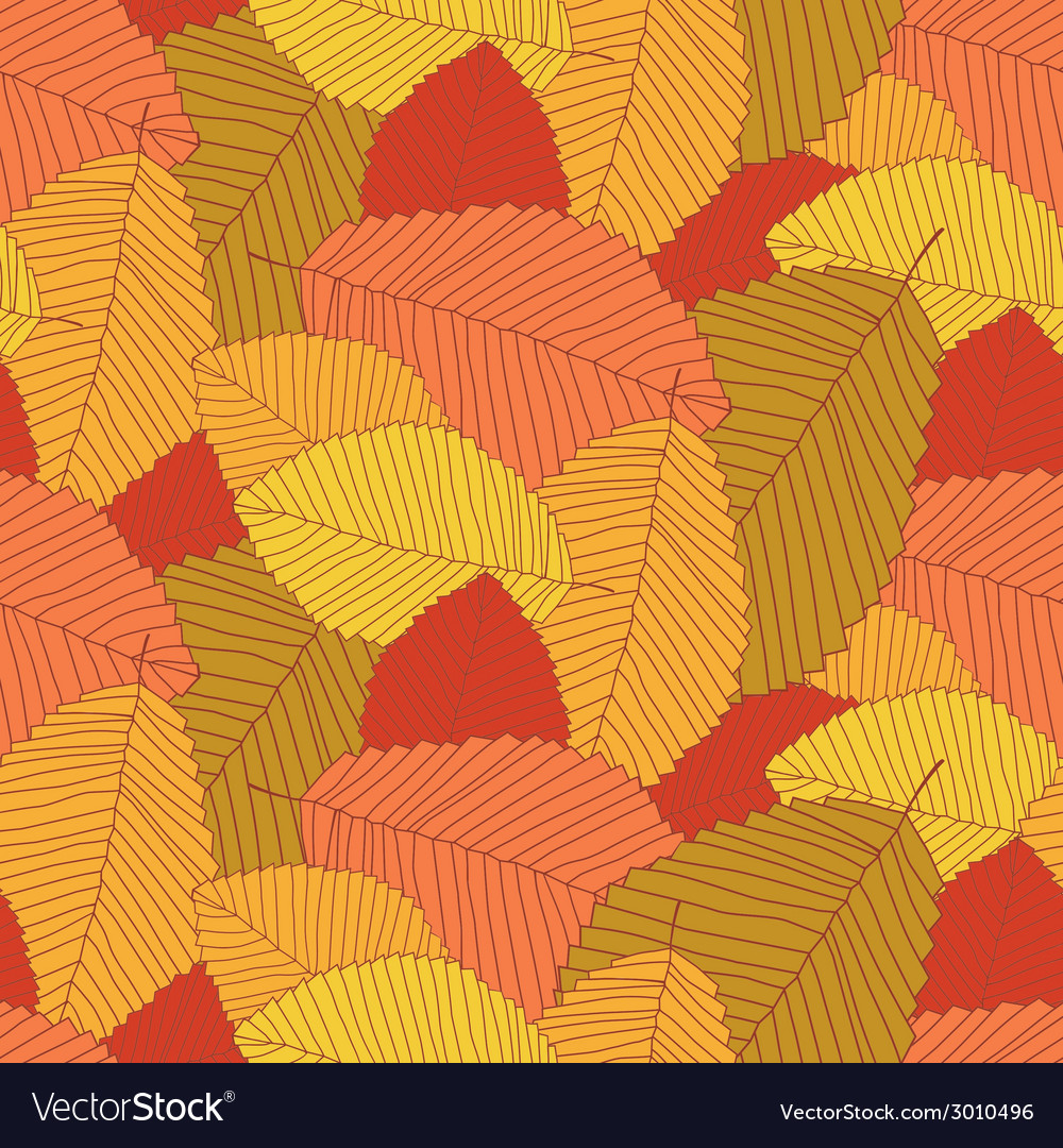 Leafs pattern autumn vector | Price: 1 Credit (USD $1)