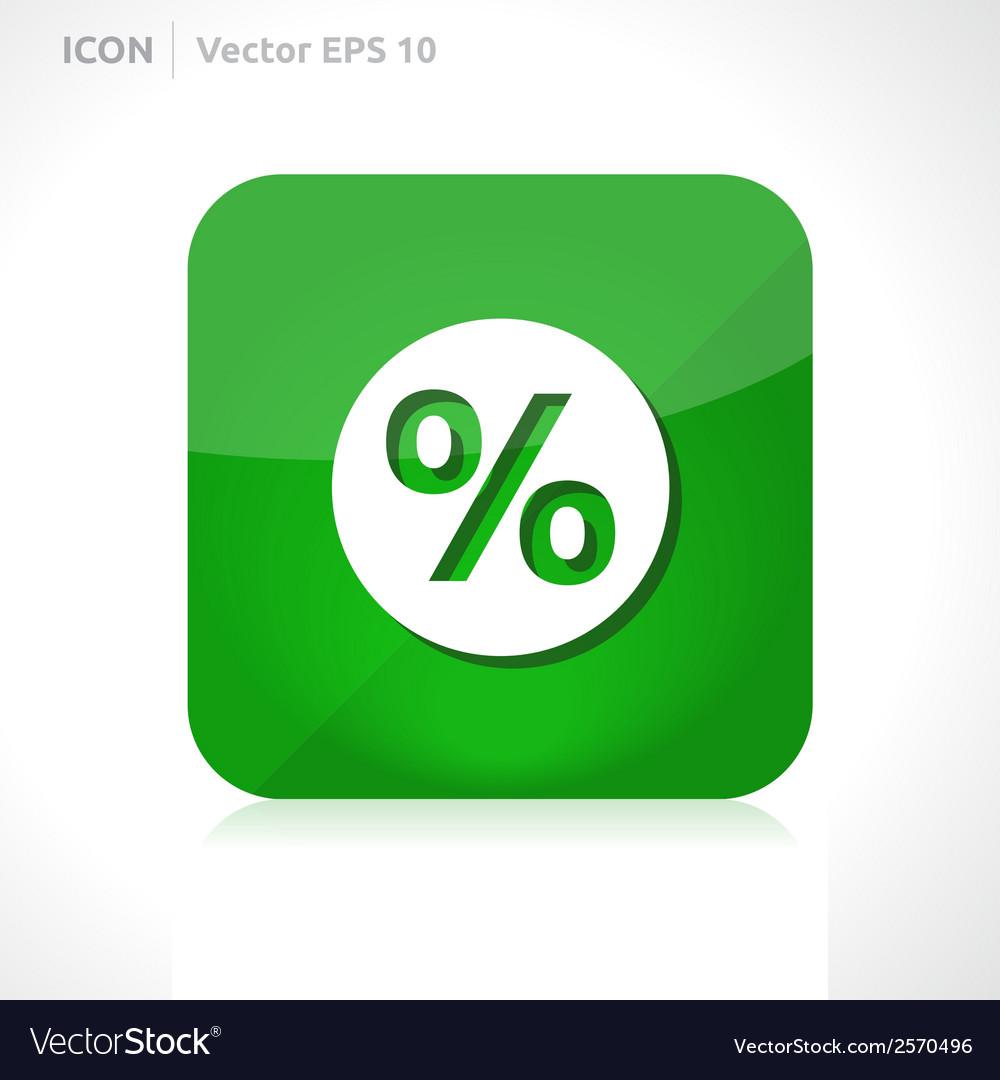 Sale percent icon vector | Price: 1 Credit (USD $1)