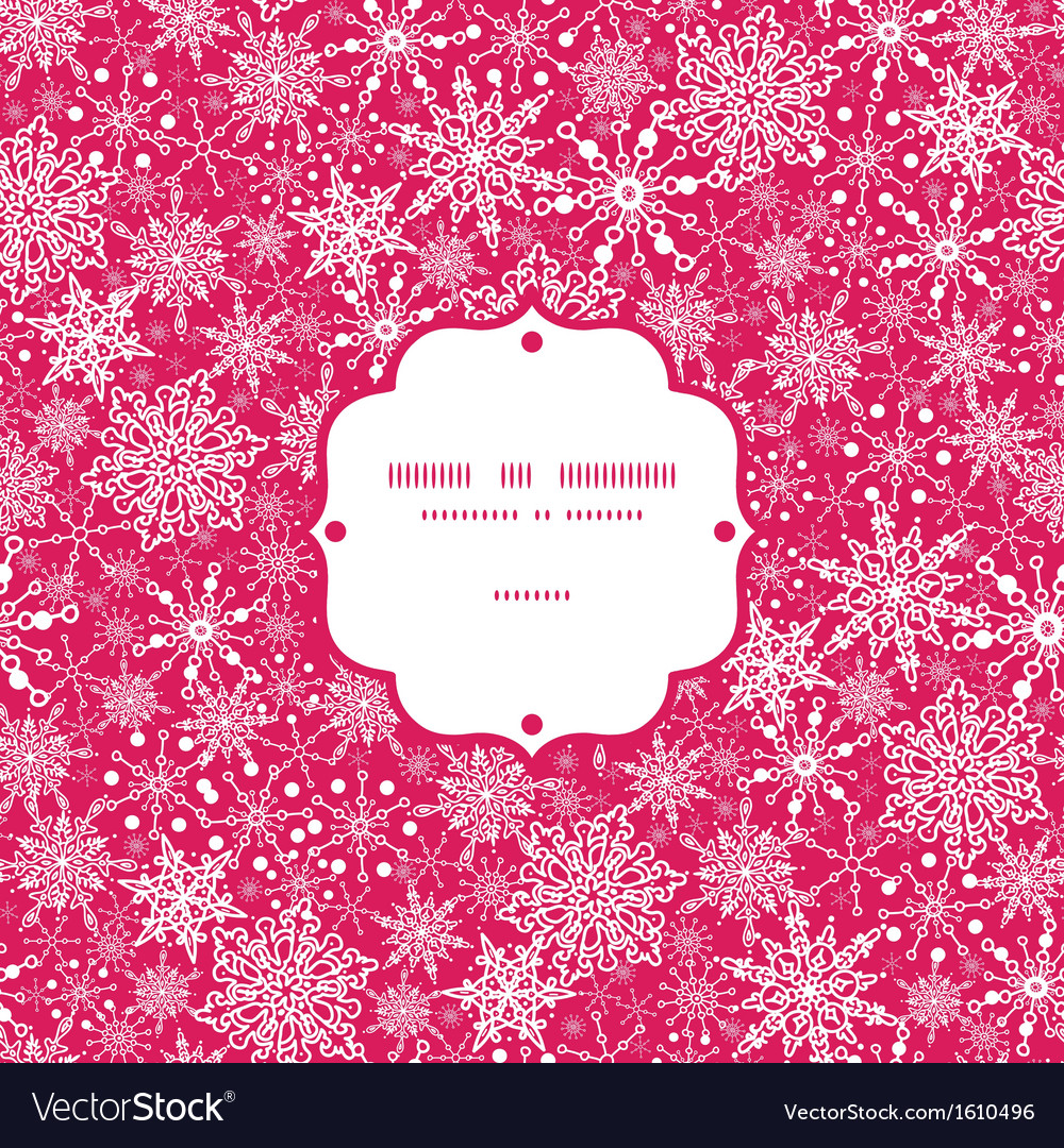 Snowflake texture frame seamless pattern vector | Price: 1 Credit (USD $1)