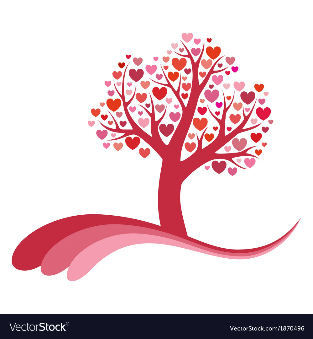Tree of love vector | Price: 1 Credit (USD $1)