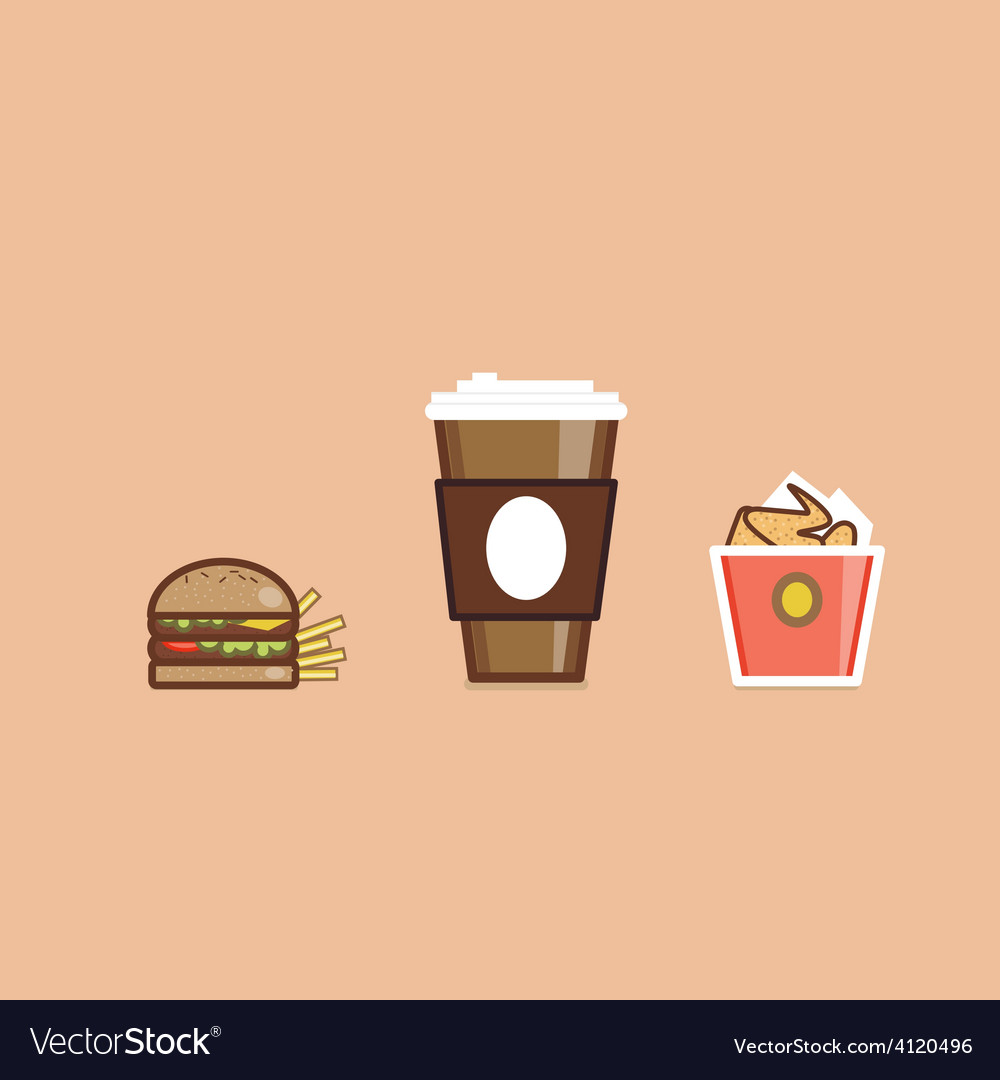 Various american food items vector | Price: 1 Credit (USD $1)