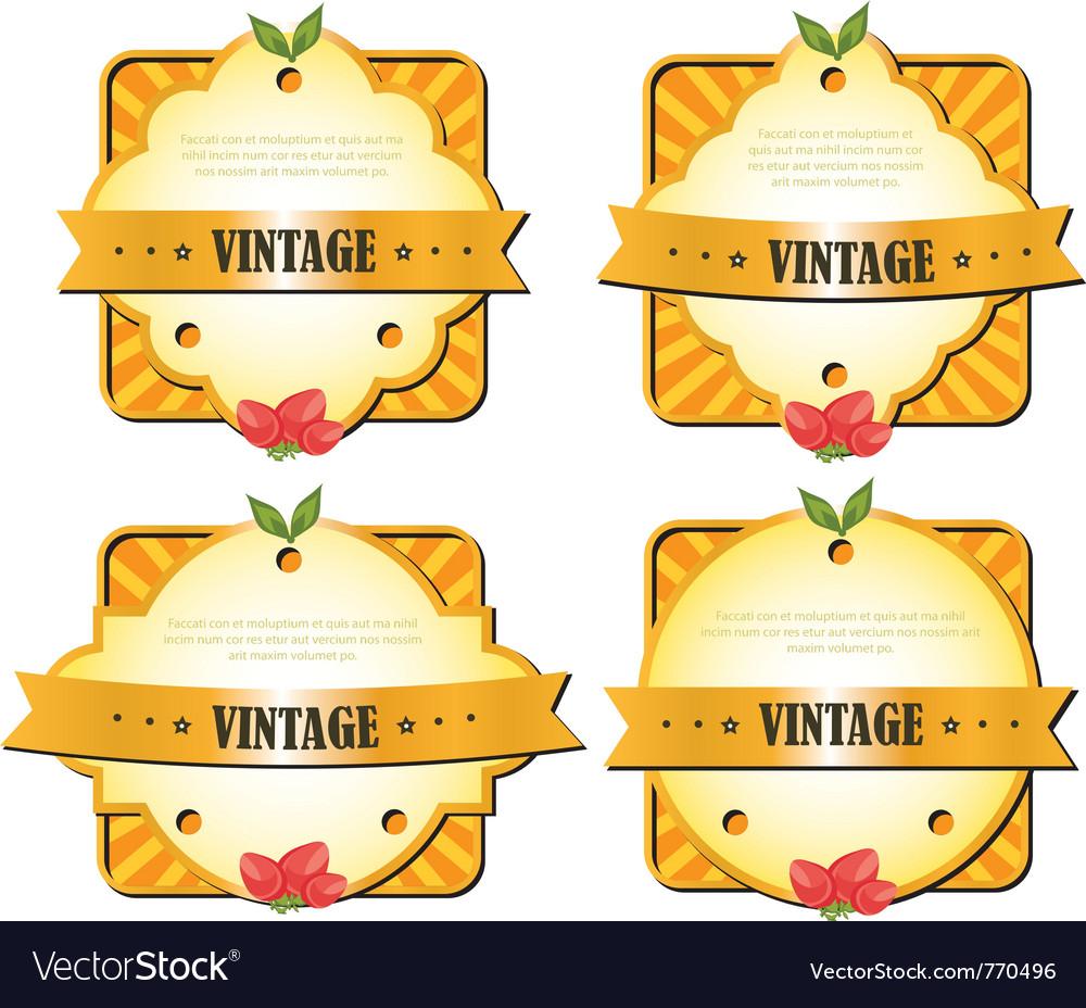 Vintage elements vector | Price: 1 Credit (USD $1)