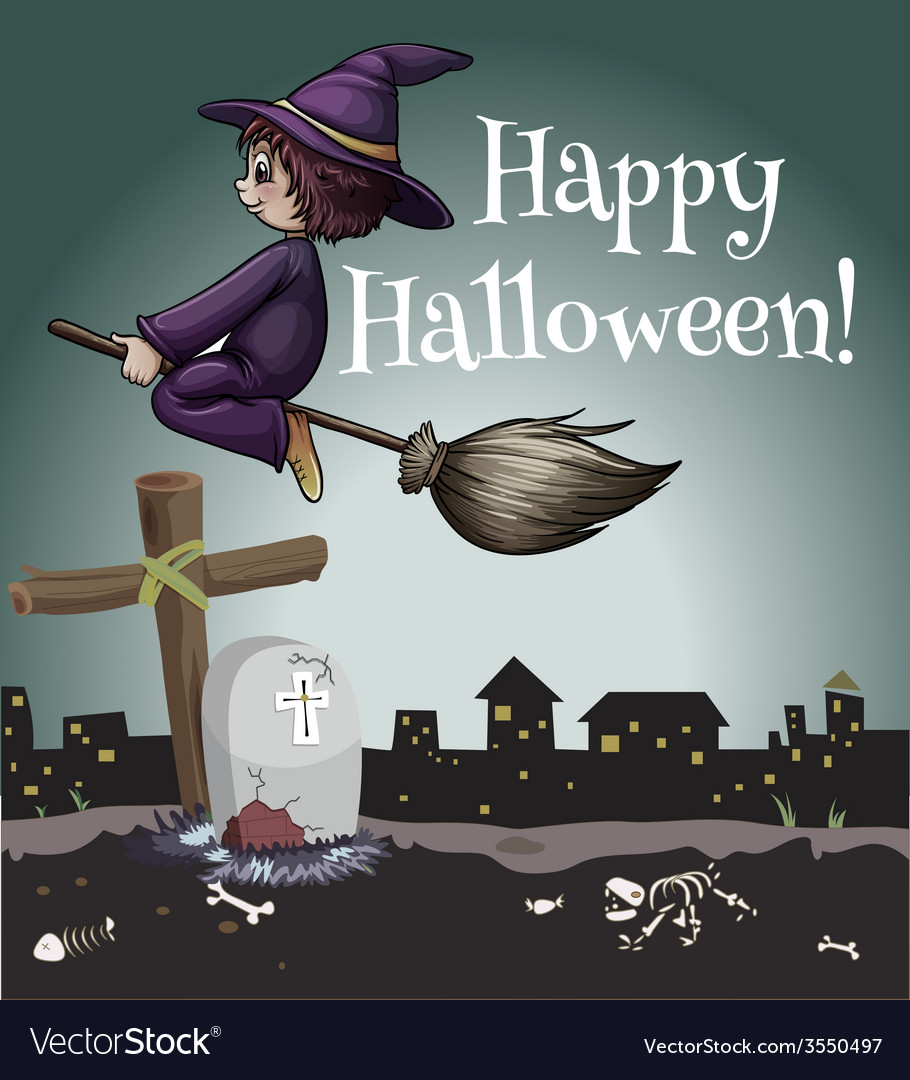 A happy halloween poster vector | Price: 1 Credit (USD $1)