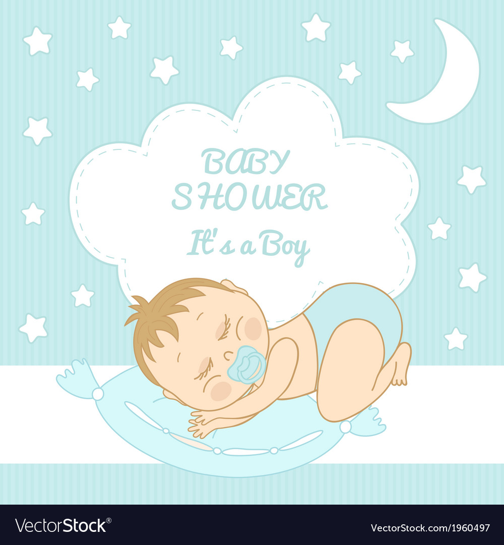 Baby shower it is a boy vector | Price: 1 Credit (USD $1)