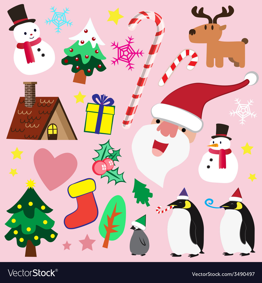 Christmas theme element for love vector | Price: 1 Credit (USD $1)