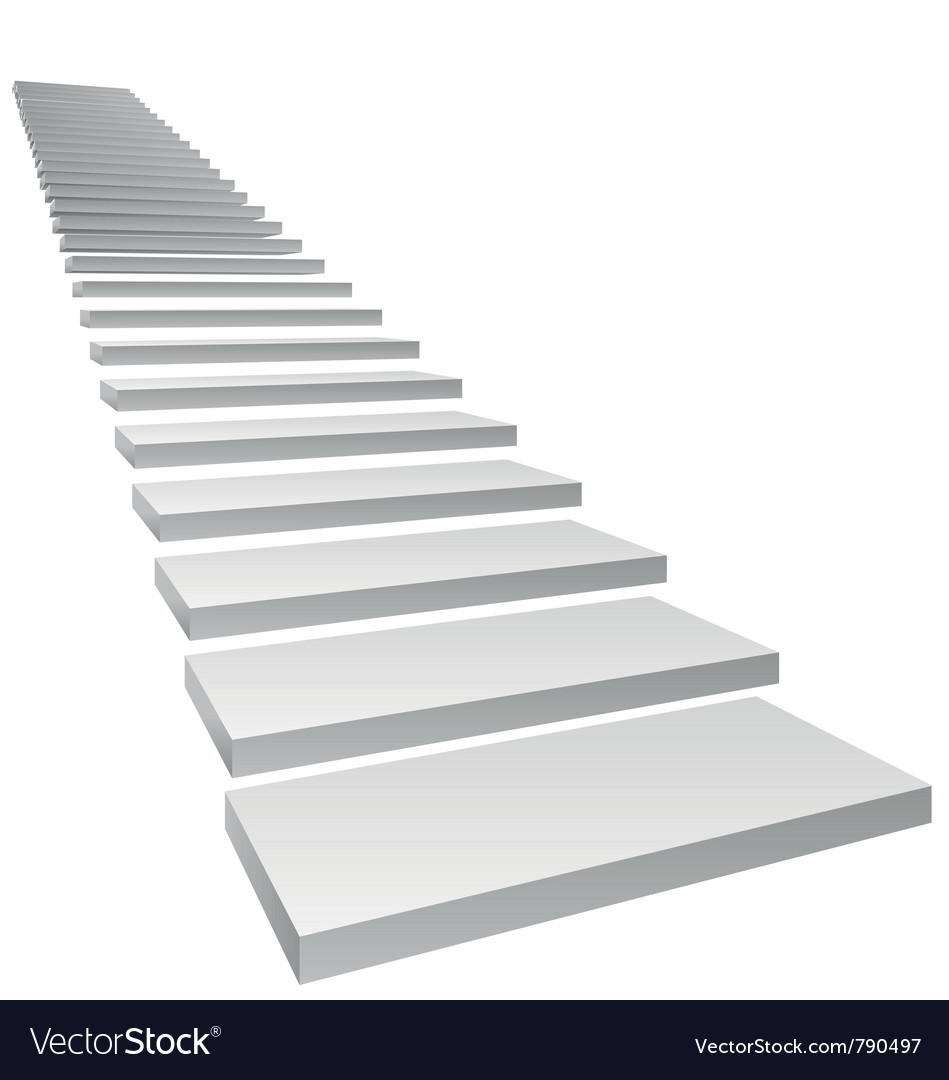 Conceptual 3d stairs vector | Price: 1 Credit (USD $1)