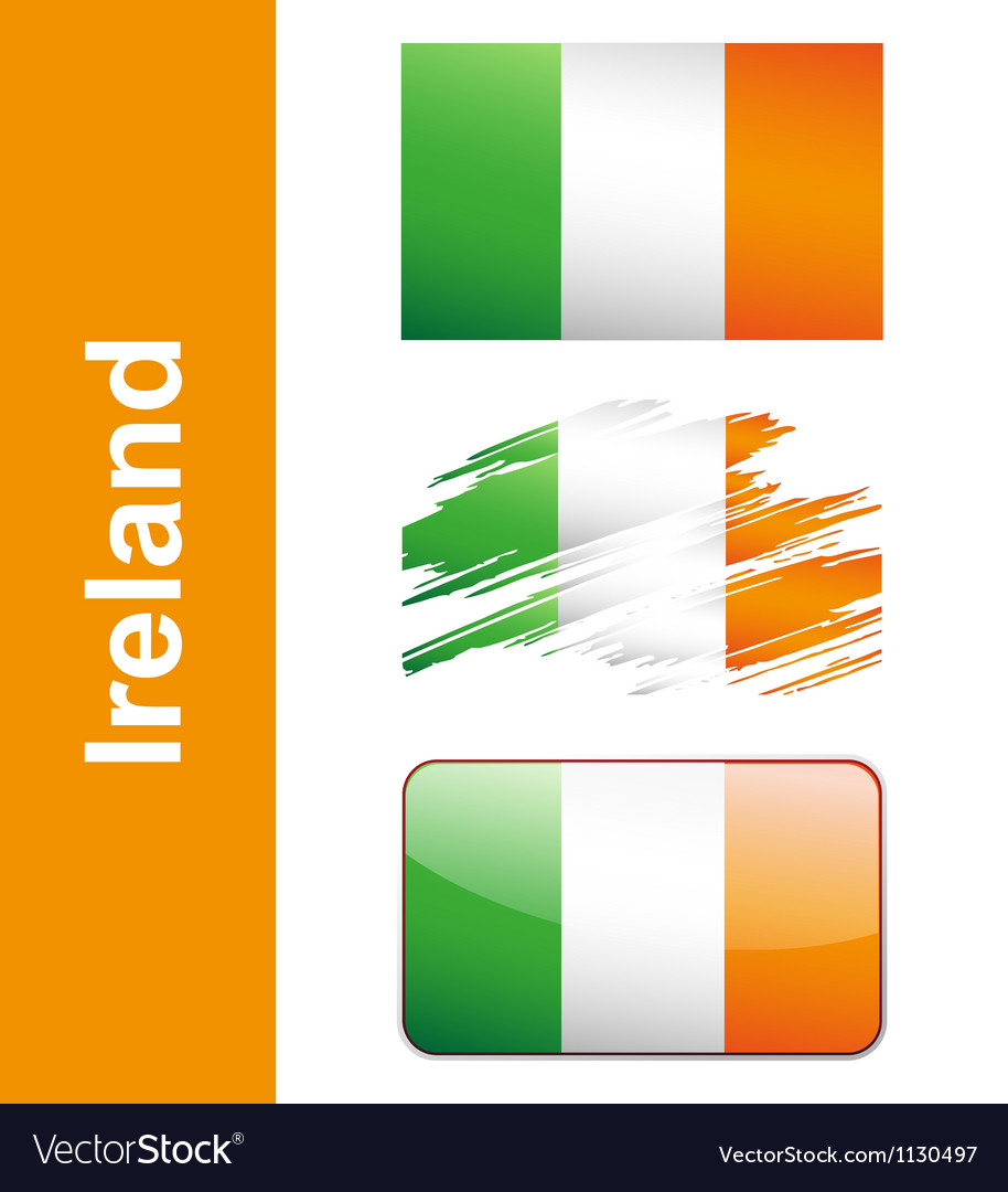 Flag ireland vector | Price: 1 Credit (USD $1)