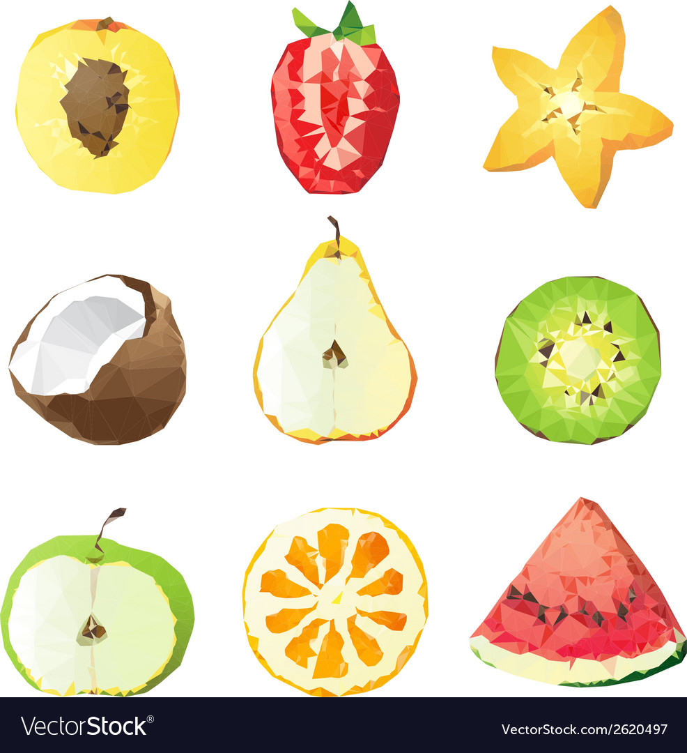 Fruit pieces vector | Price: 1 Credit (USD $1)