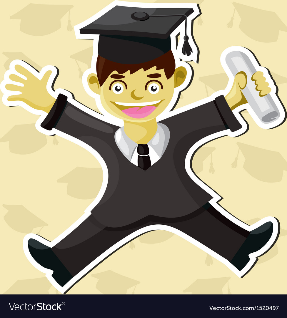 Graduation vector | Price: 1 Credit (USD $1)