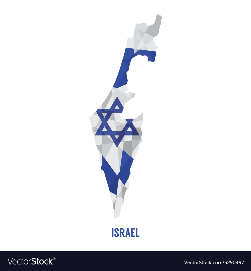 Map of israel vector | Price: 1 Credit (USD $1)