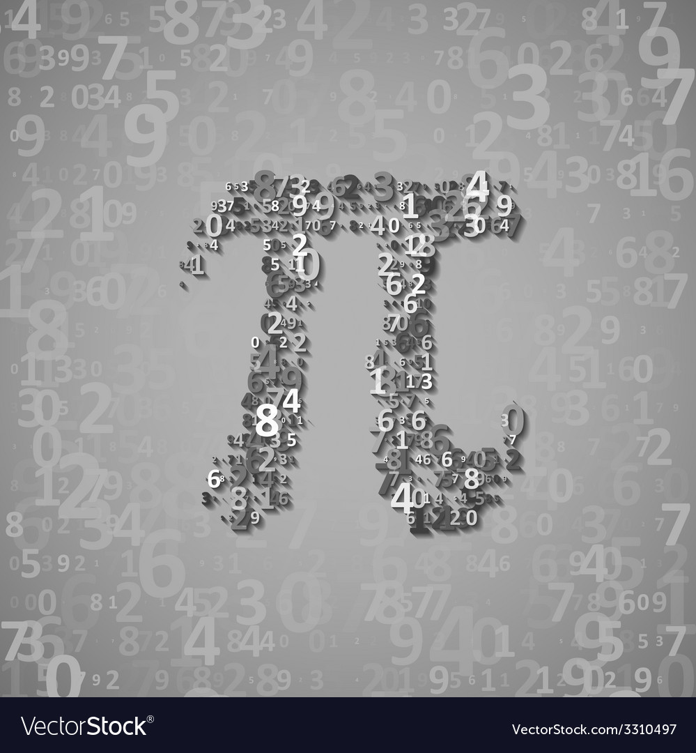 The mathematical constant pi vector   Price: 1 Credit (USD $1)