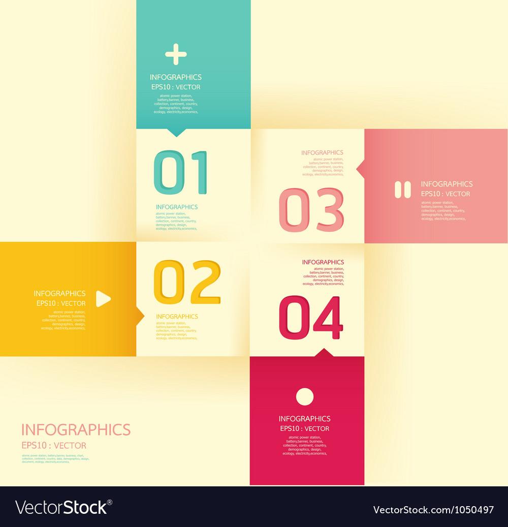 Modern soft color design template vector | Price: 1 Credit (USD $1)