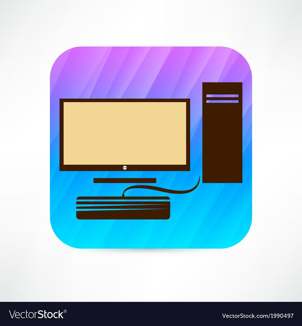 Personal computer icon vector | Price: 1 Credit (USD $1)