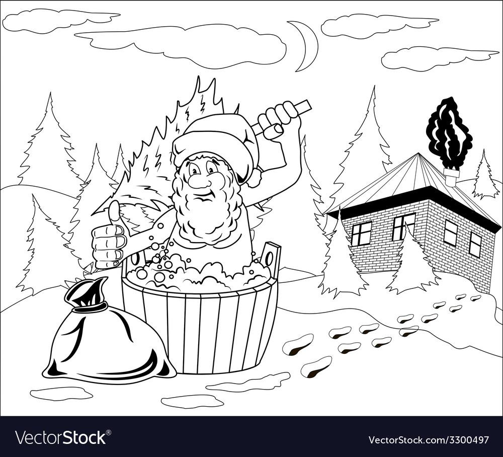 Santa claus takes a bath vector   Price: 1 Credit (USD $1)