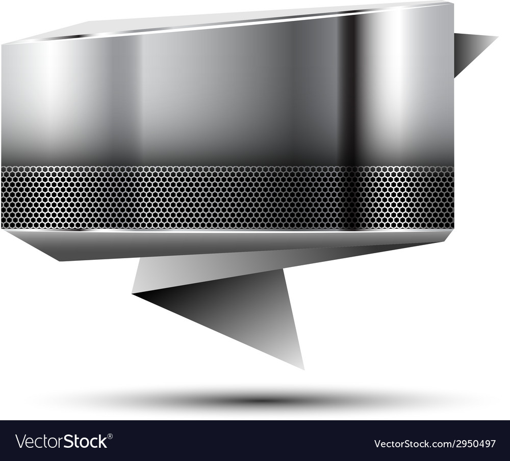Steel banner vector | Price: 1 Credit (USD $1)
