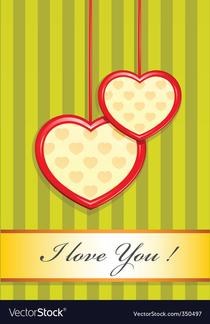 Valentine as two hearts vector | Price: 1 Credit (USD $1)