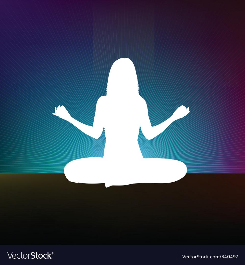 Yoga style template design vector | Price: 1 Credit (USD $1)