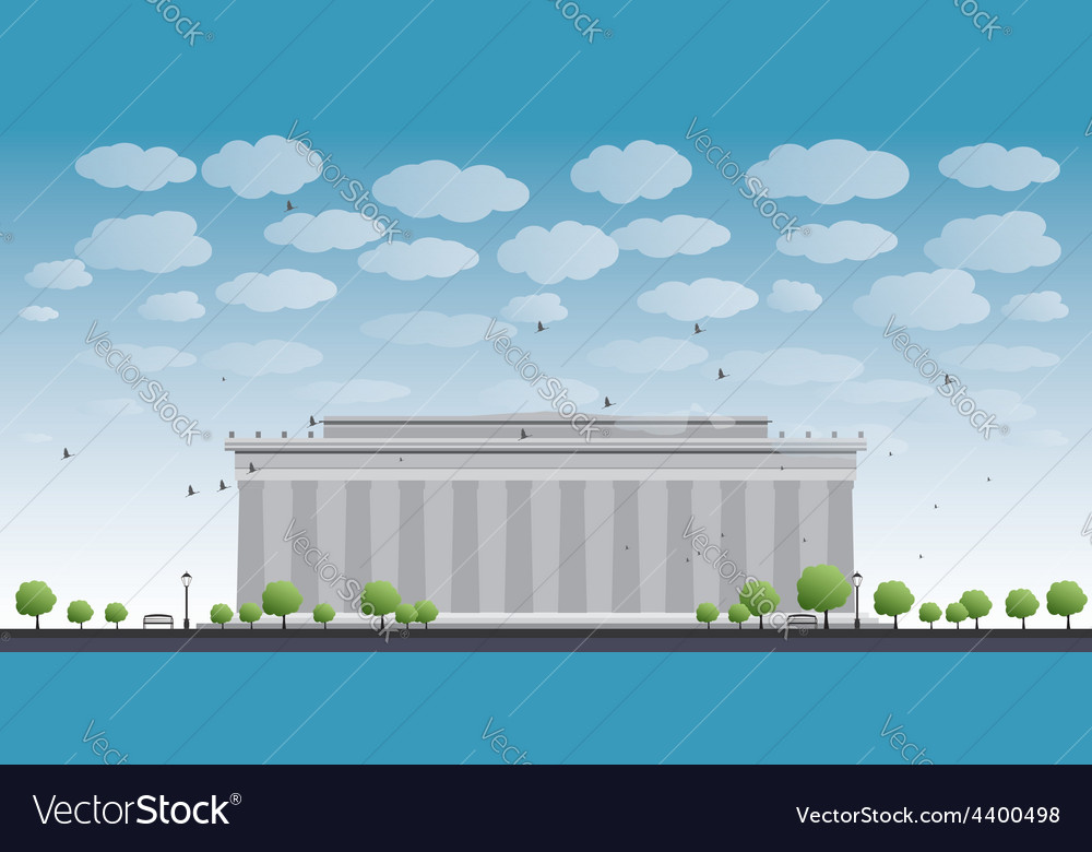 Abraham lincoln memorial in washington dc vector | Price: 1 Credit (USD $1)