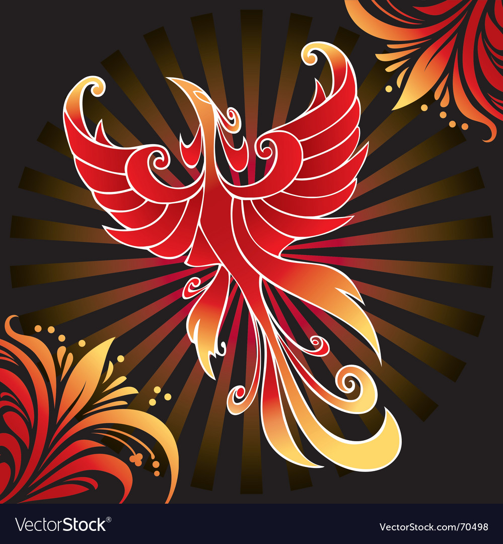 Amazing firebird vector | Price: 1 Credit (USD $1)