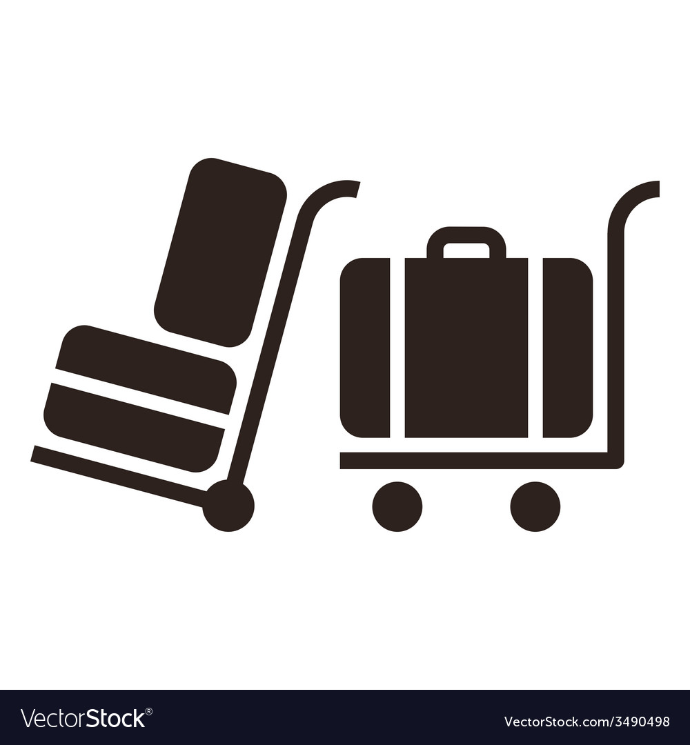 Baggage cart - travel icons vector | Price: 1 Credit (USD $1)