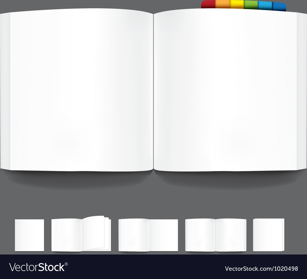 Book blank page template for design vector | Price: 1 Credit (USD $1)