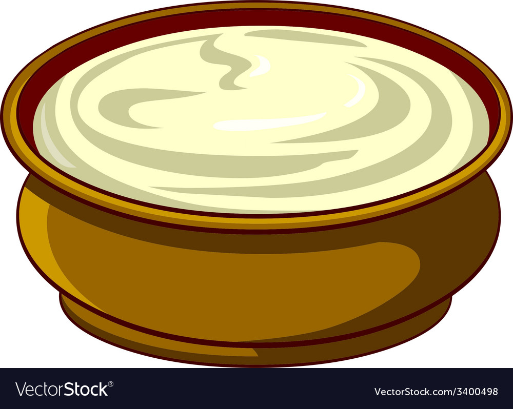 Bowl with sour cream vector | Price: 1 Credit (USD $1)