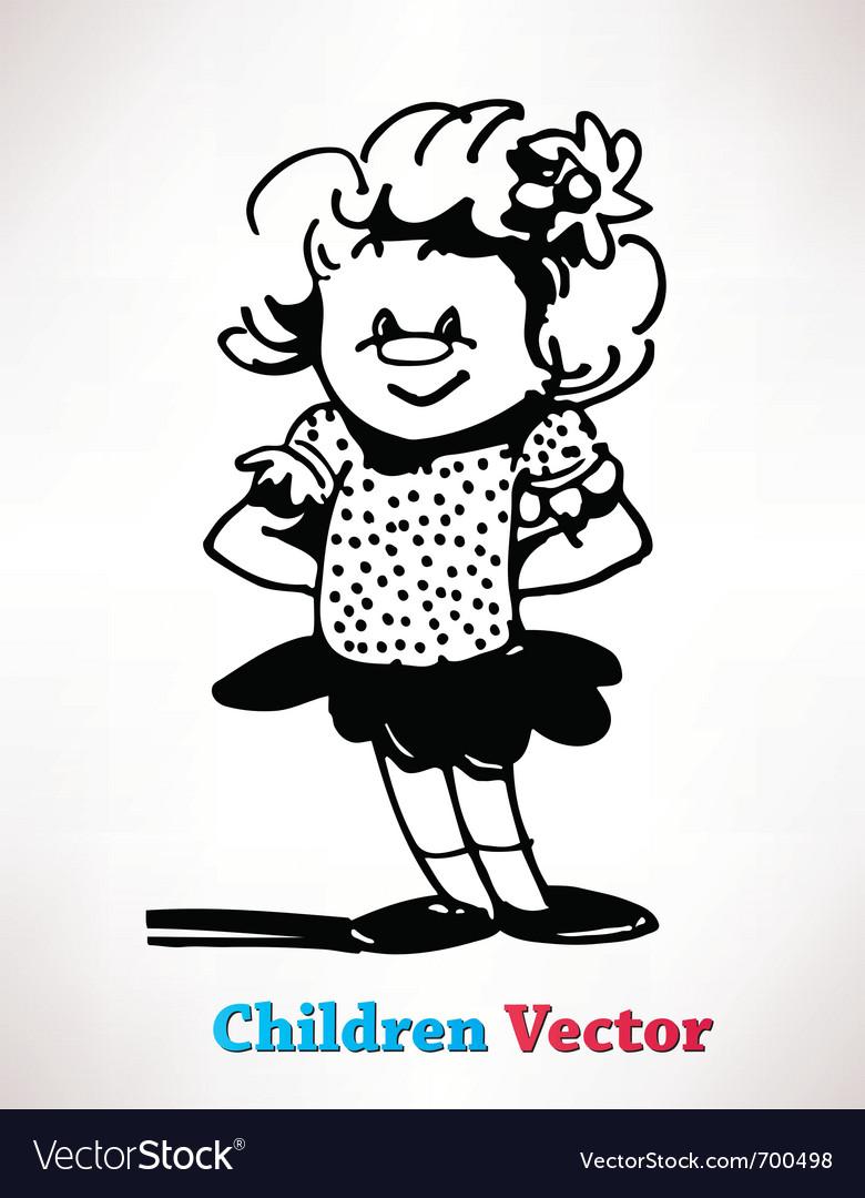 Children vector | Price: 1 Credit (USD $1)