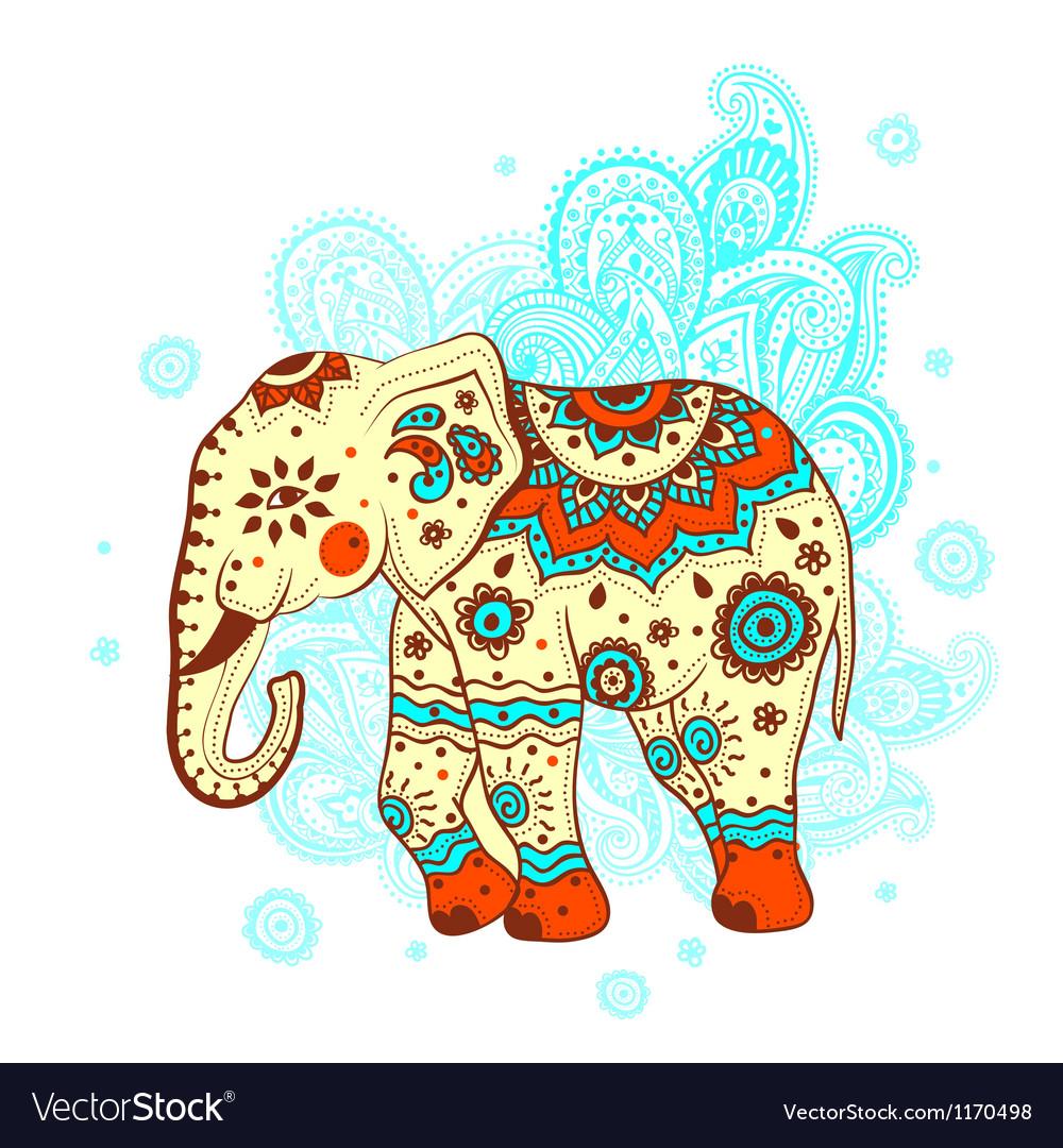 Ethnic elephant vector | Price: 1 Credit (USD $1)