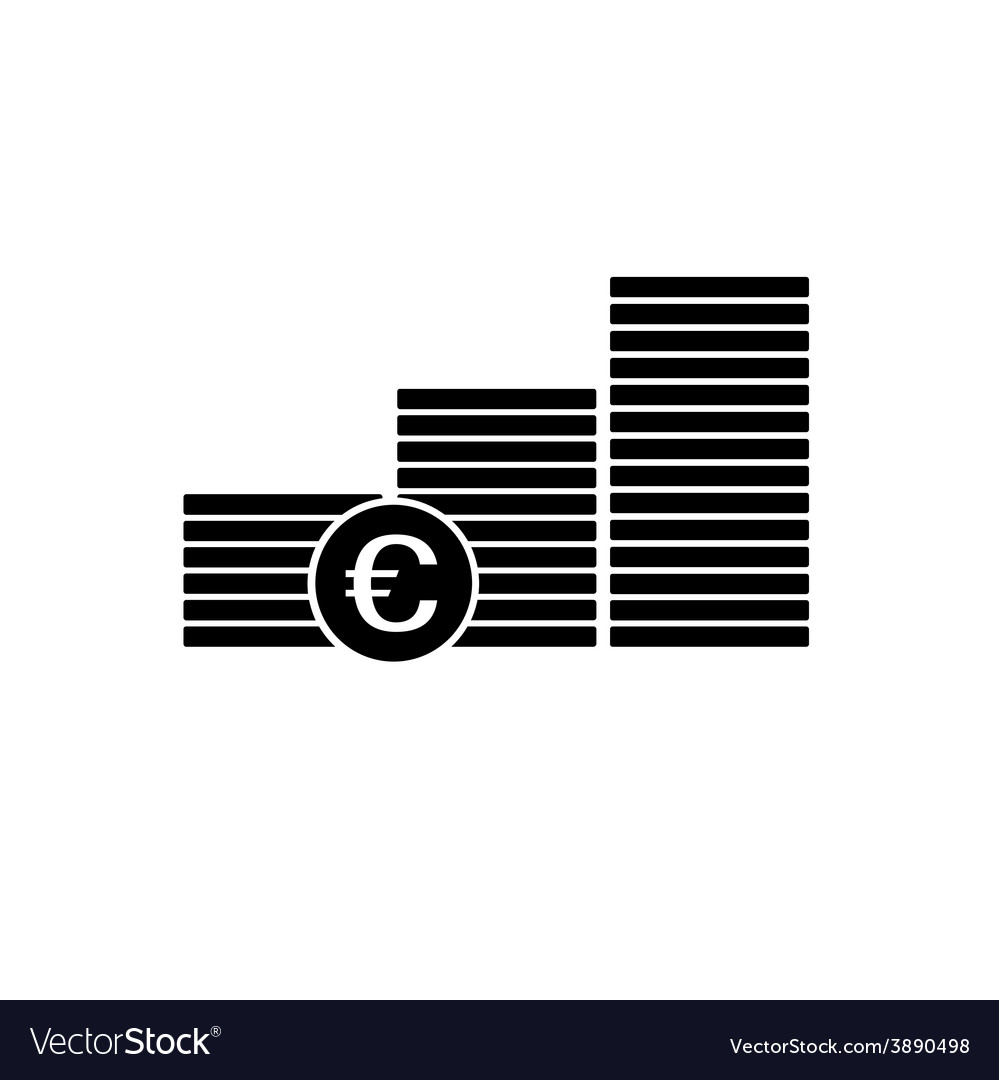 Finance money euro icon vector