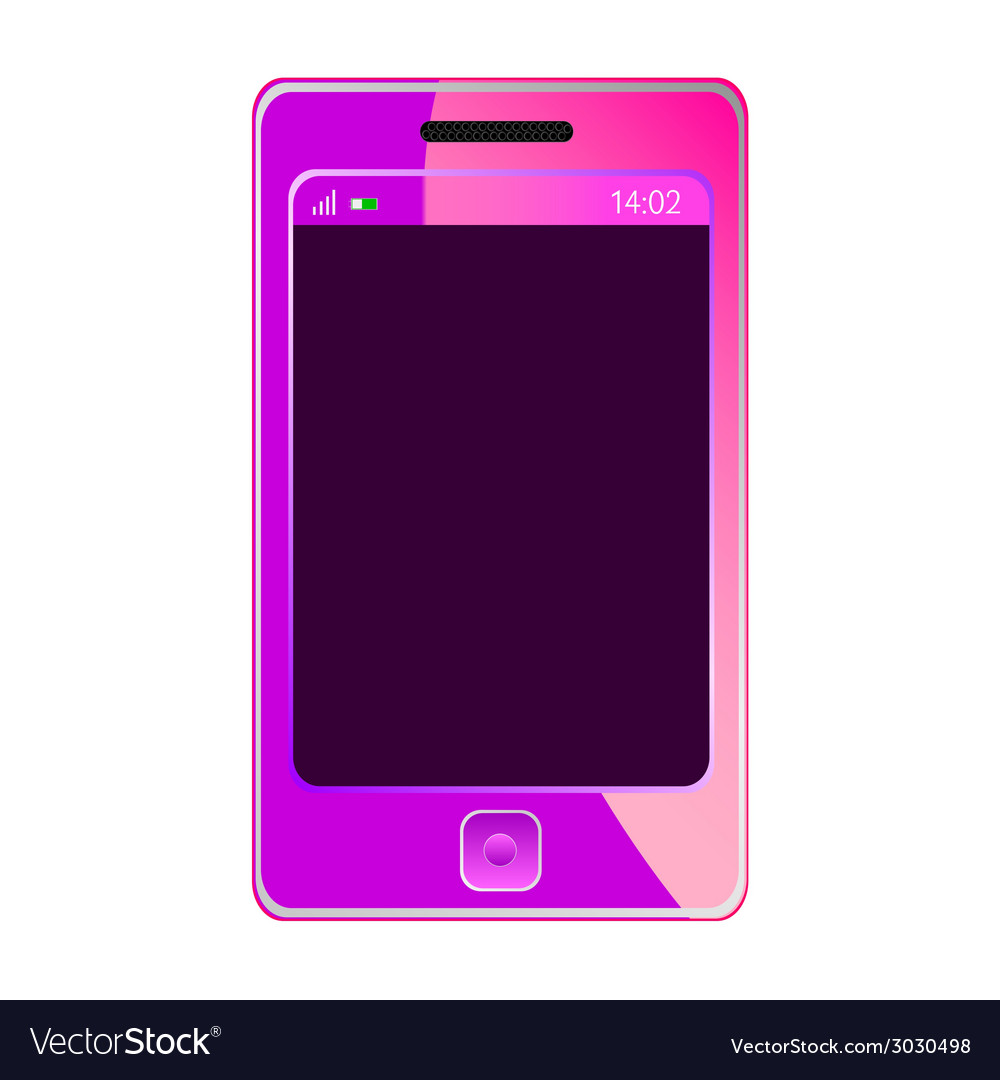 Mobile phone for woman in pink color vector | Price: 1 Credit (USD $1)
