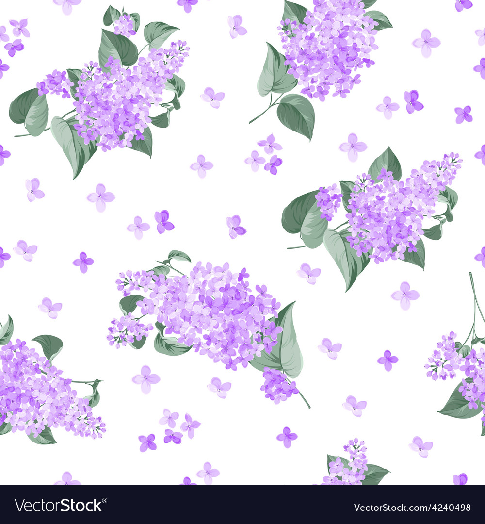 Seamless lilac pattern vector | Price: 1 Credit (USD $1)