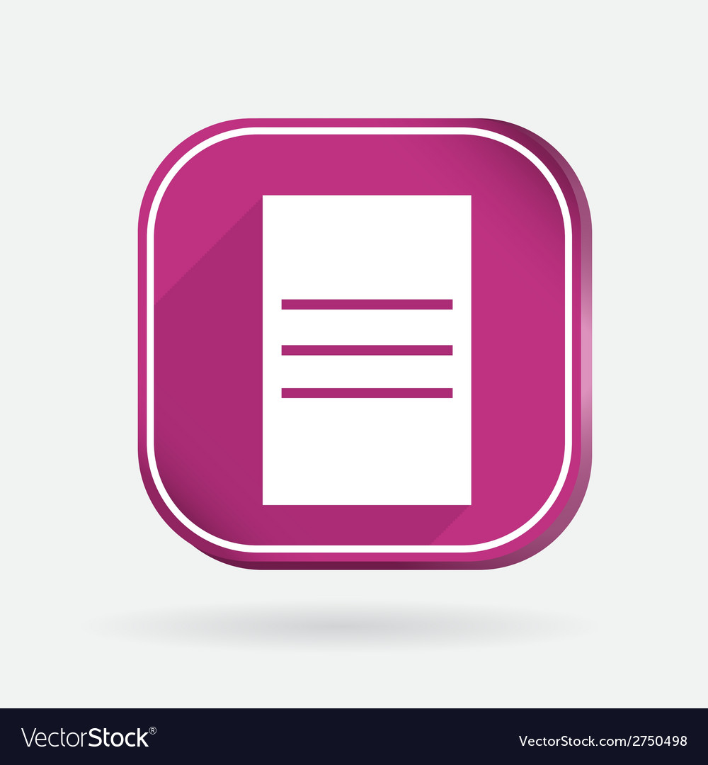 Square icon sheet of paper vector | Price: 1 Credit (USD $1)