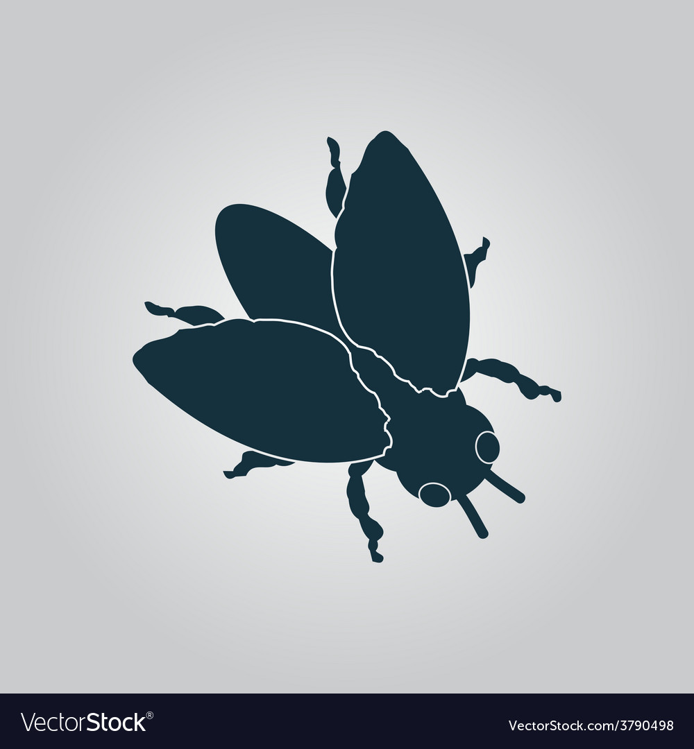 Stencil black flies icon sign and button vector