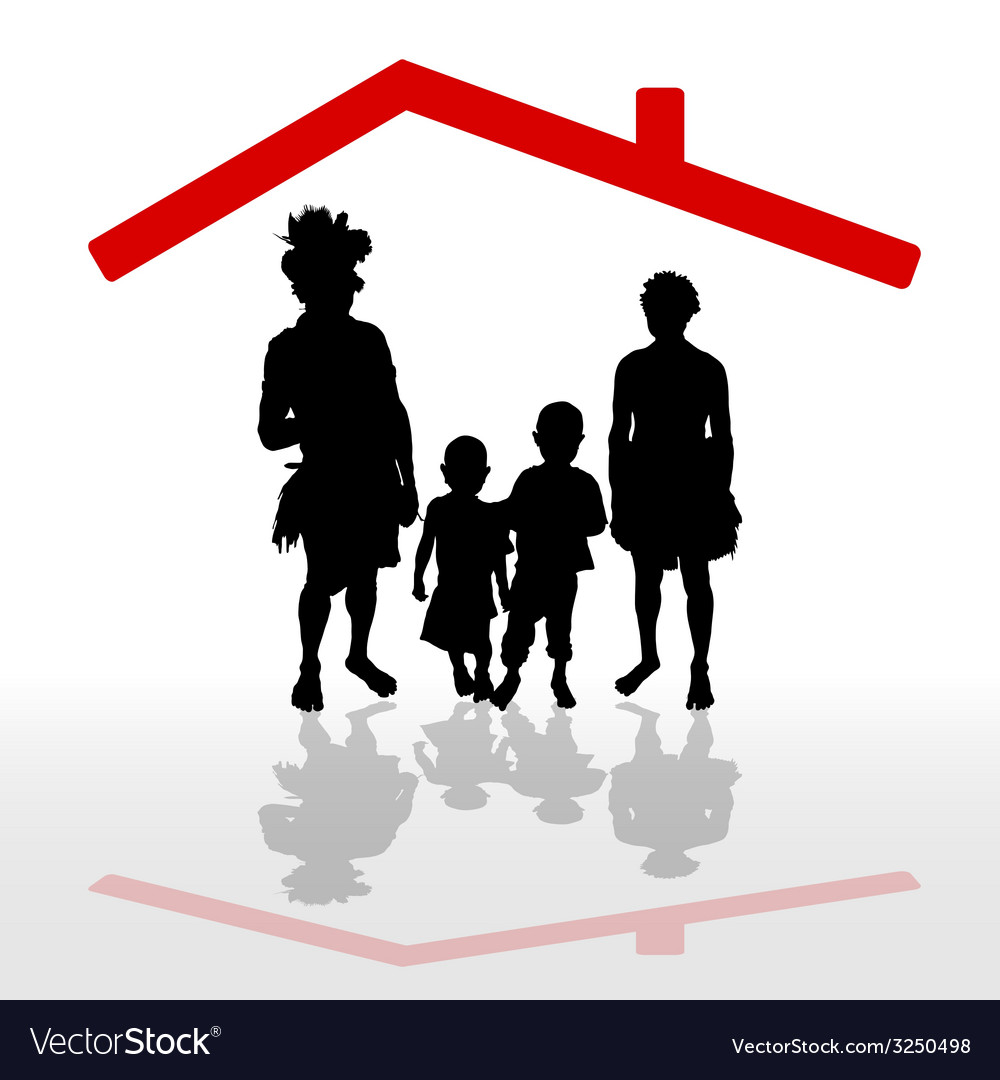 Tribe under his house vector | Price: 1 Credit (USD $1)