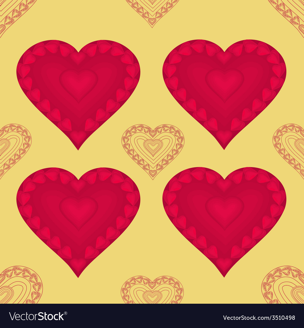 Valentines day seamless texture heart with hearts vector | Price: 1 Credit (USD $1)