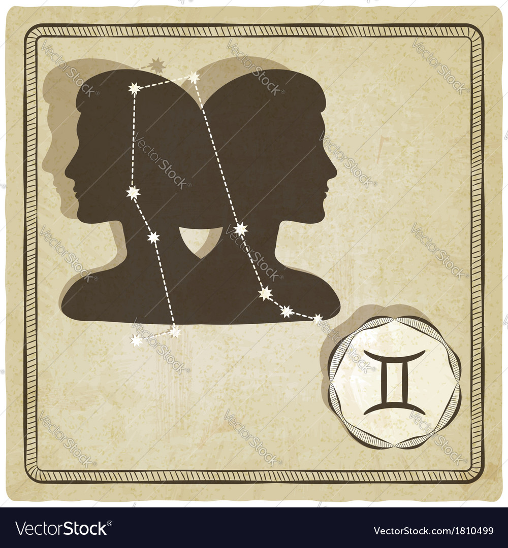 Astrological sign - gemini vector | Price: 1 Credit (USD $1)