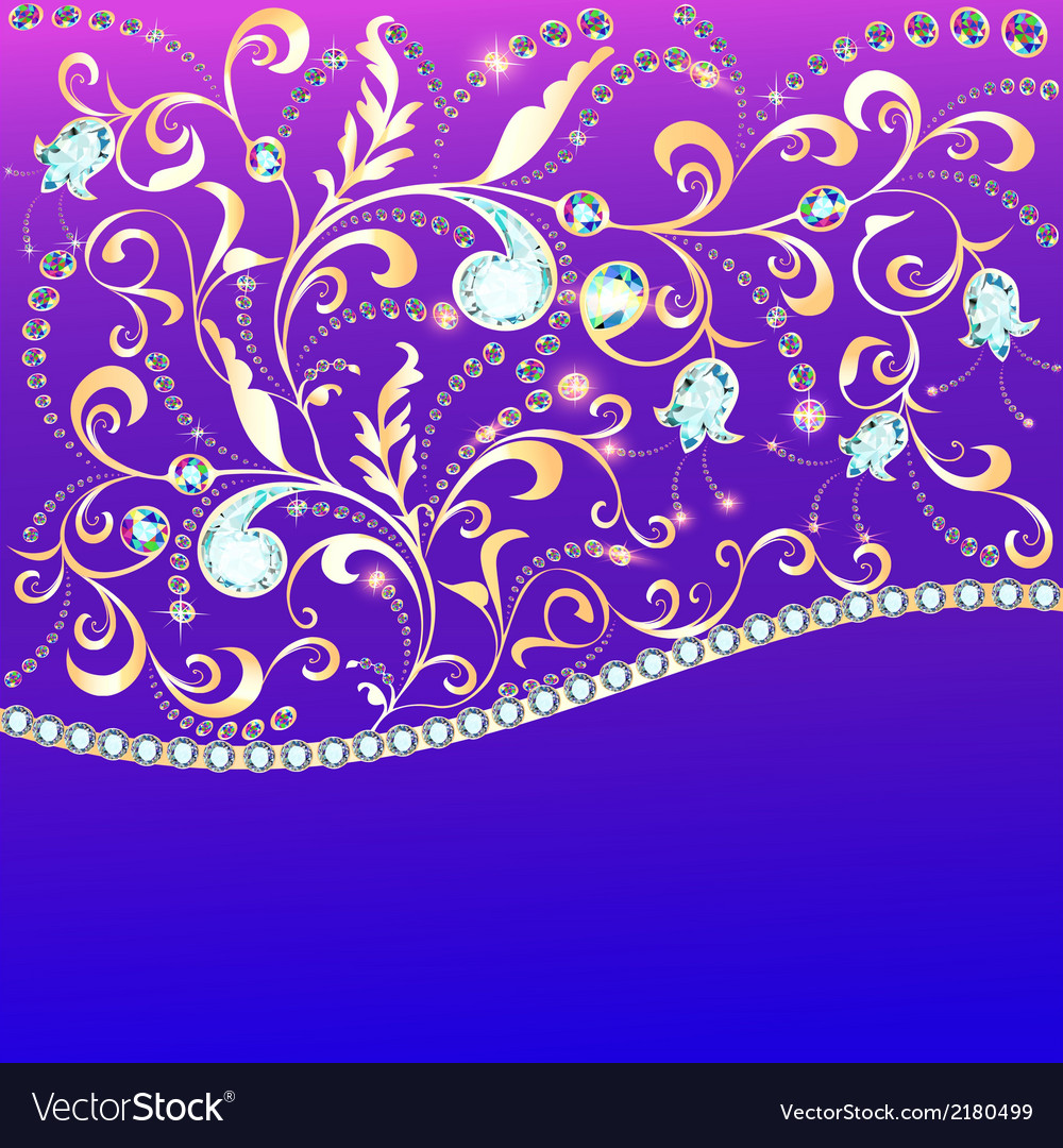 Background and ornament of precious stones vector | Price: 1 Credit (USD $1)