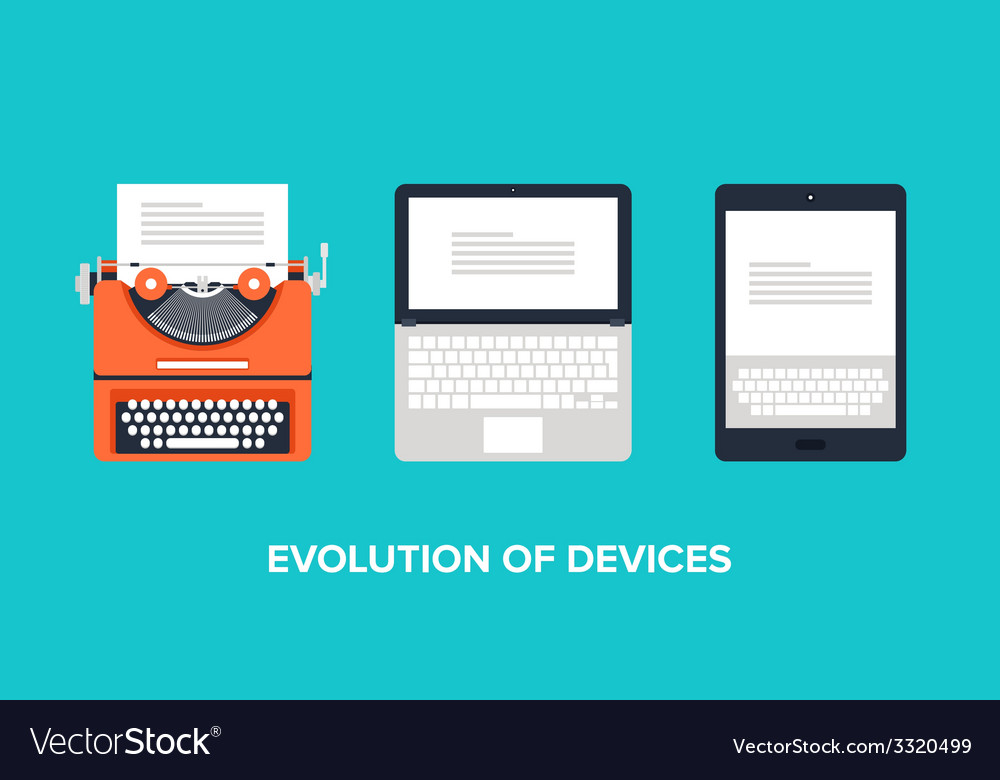 Evolution of devices vector | Price: 1 Credit (USD $1)