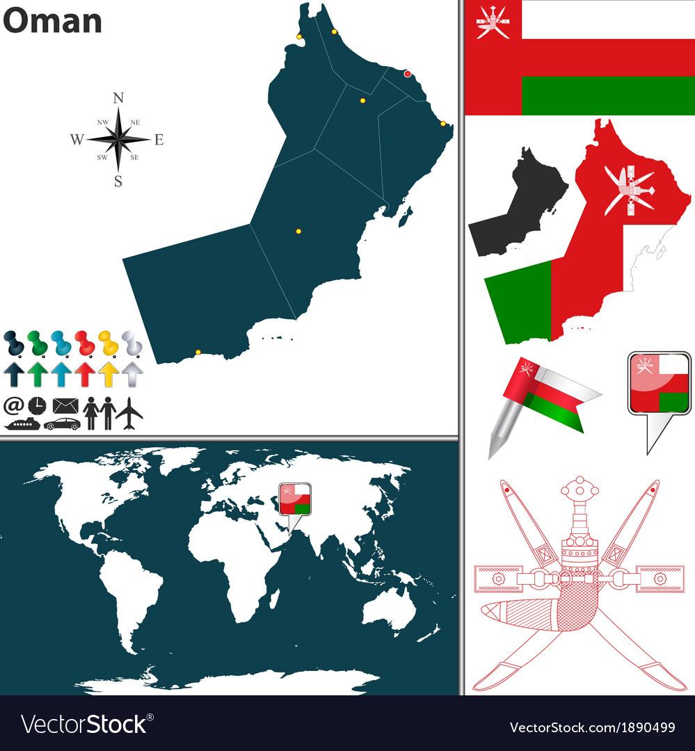 Oman map world vector   Price: 1 Credit (USD $1)