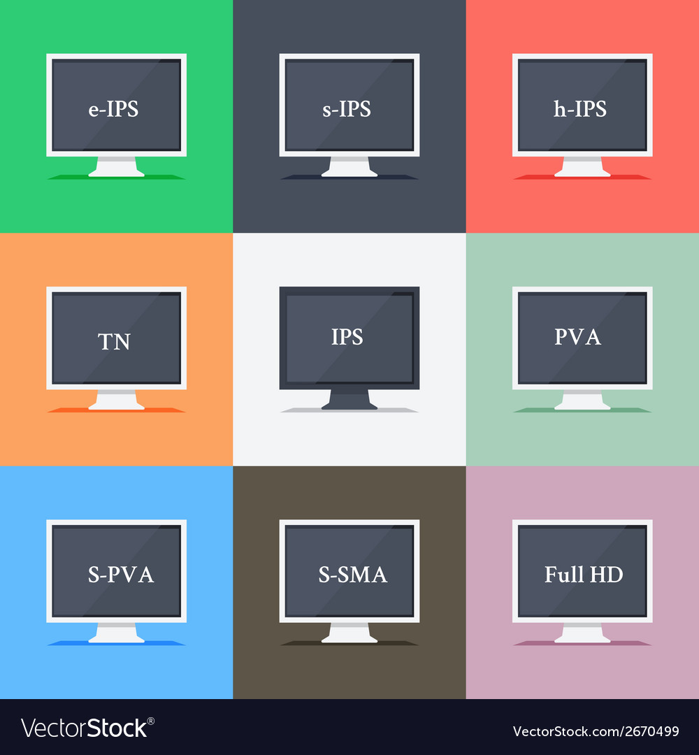 Responsive web design on different monitors vector | Price: 1 Credit (USD $1)