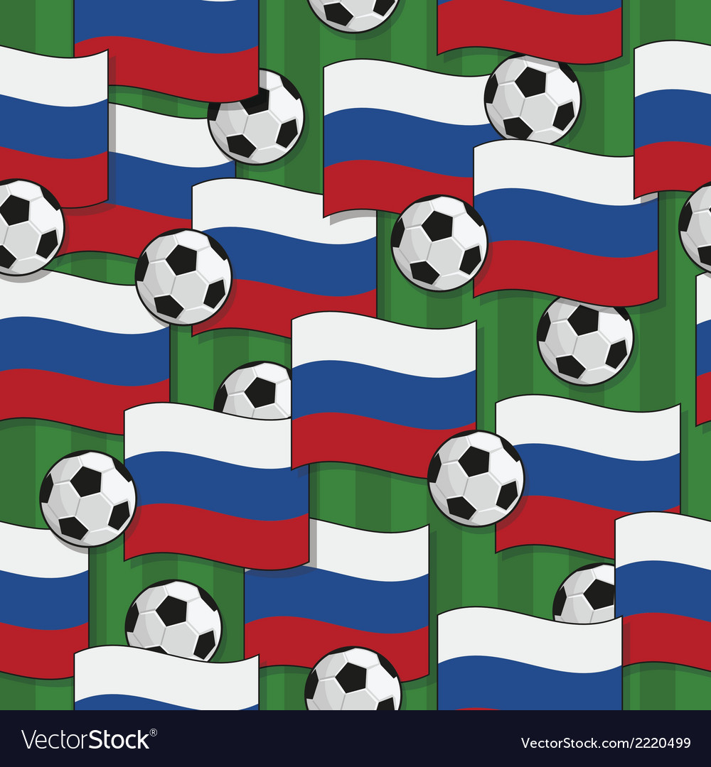 Russia football pattern vector | Price: 1 Credit (USD $1)