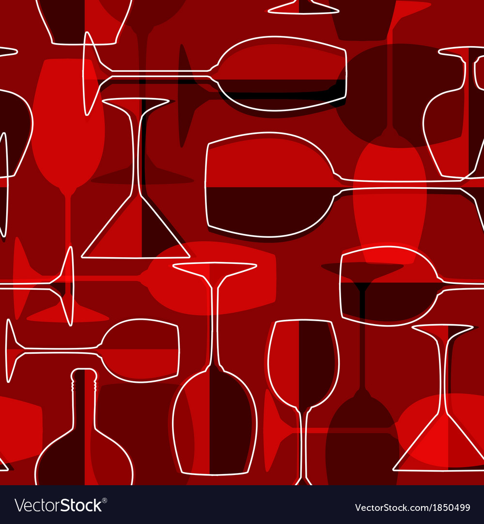 Seamless wineglass background vector | Price: 1 Credit (USD $1)