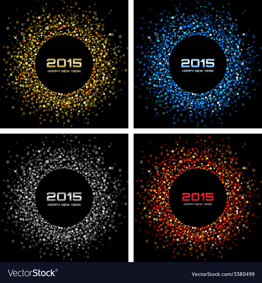 Set of colorful bright new year 2015 backgrounds vector | Price: 1 Credit (USD $1)