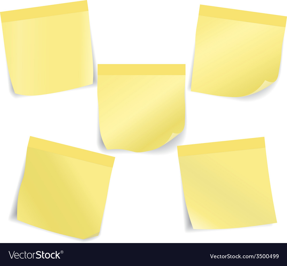 Set of stick notes vector | Price: 1 Credit (USD $1)