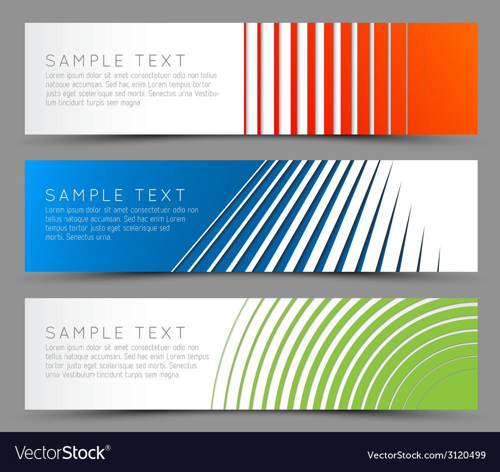 Simple colorful horizontal banners vector | Price: 1 Credit (USD $1)