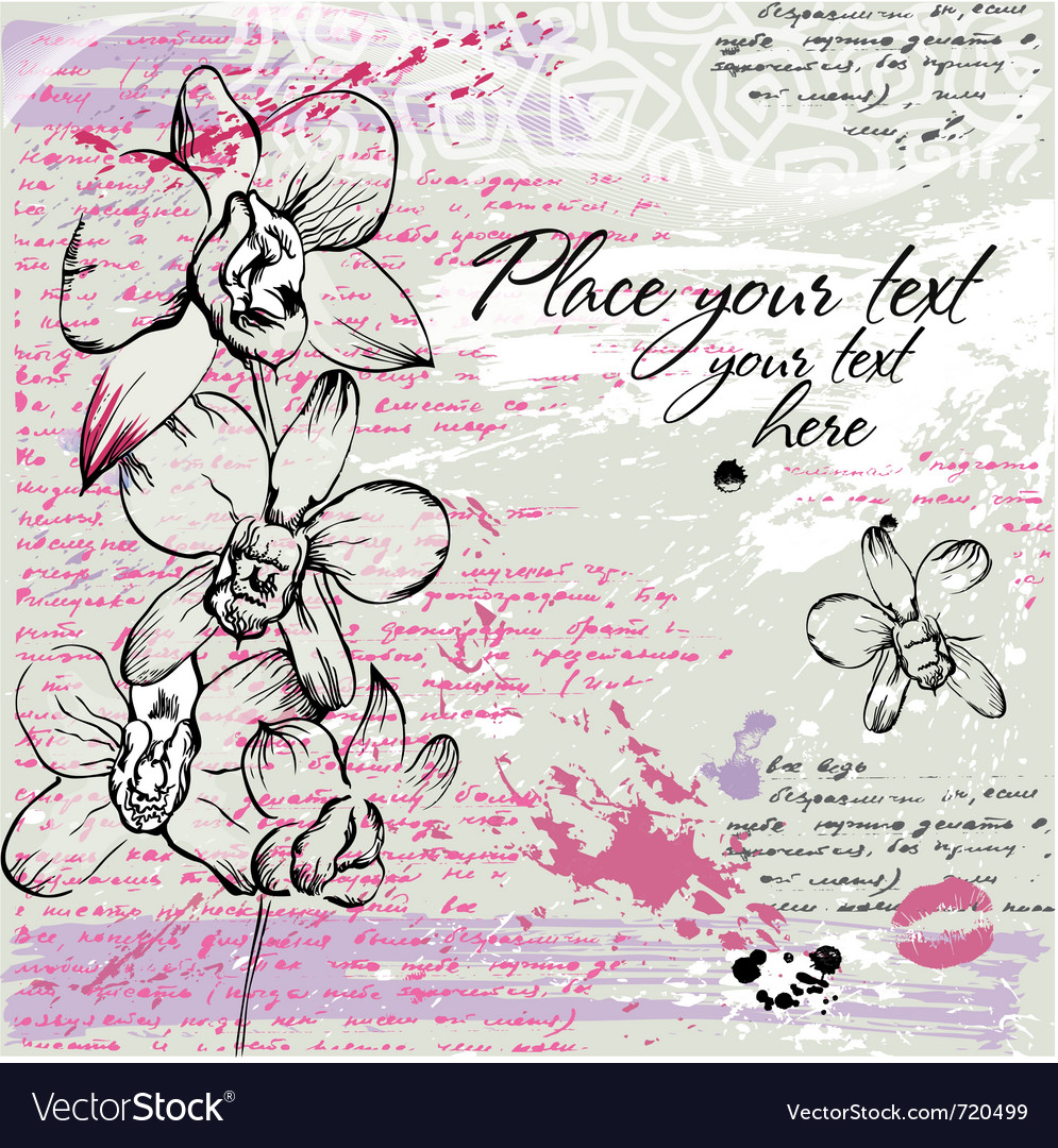 Textured background with orchid vector | Price: 1 Credit (USD $1)