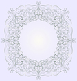 Round lace pattern vector