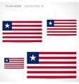 Liberia flag template vector