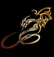Stylised dragon vector